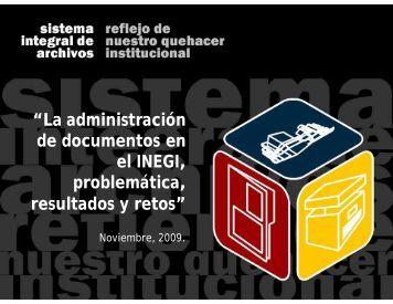 La administración de documentos en el Instituto Nacional de ...
