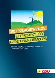 Die Energiewende - CDU Baden-Württemberg