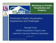 Production Cluster Visualization: Experiences and Challenges