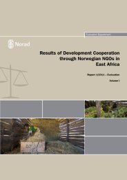 Results of Development Cooperation through Norwegian Ngos in ...