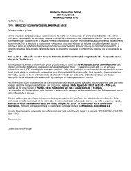 SERVICIOS EDUCATIVOS SUPLEMENTALES (SES - Wildwood ...