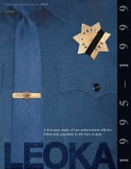 A five-year study of law enforcement officers ... - State of California