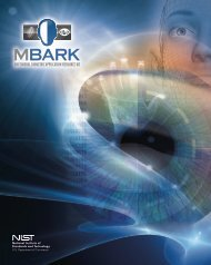 MBARK Brochure - NIST Visual Image Processing Group - National ...