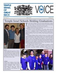 Voice - Temple Israel of Great Neck