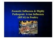 Zoonotic Influenza & Highly Pathogenic Avian Influenza (HPAI) in ...