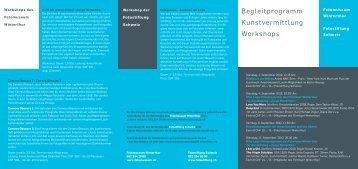 Begleitprogramm Kunstvermittlung Workshops - Fotomuseum ...