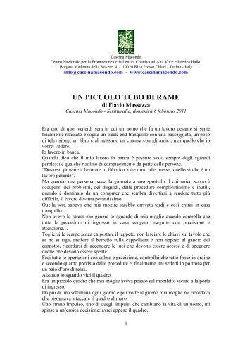 UN PICCOLO TUBO DI RAME - Cascina Macondo