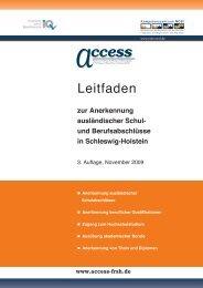 Norddeutsches Netzwerk zur beruflichen Integration - access