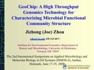 Jizhong (Joe) Zhou GeoChip - Danish Technological Institute
