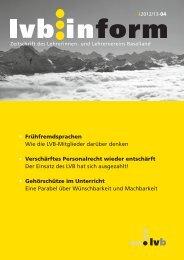 ganze Ausgabe im pdf-Format - Lehrerinnen