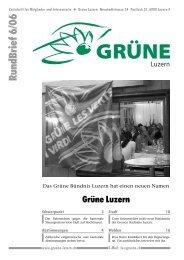 Nr. 6/2006 - Grüne Luzern