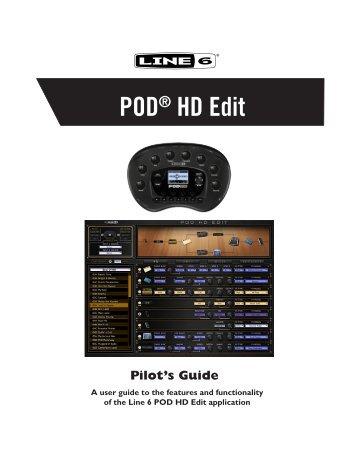 Line 6 POD® HD Edit Pilot's Guide (Rev. B, v. 1.03) - Musifex