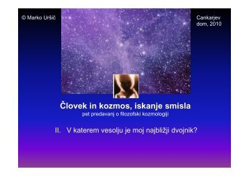 V katerem vesolju je moj najbližji dvojnik? - Arnes