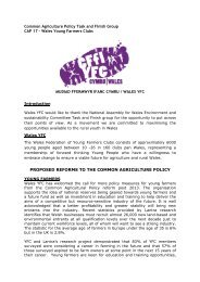 Consultation response: CAP 17 - Wales Young Farmers - Senedd ...