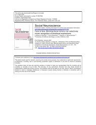 Social Neuroscience - Department of Philosophy