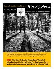 2011FallVol33Issue4 Web - Waseca County Historical Society