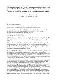 Verordnung EU Nr. 564-2013 über die an die Europäische ...