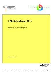 LED Beleuchtung 2013 - Arbeitskreis Maschinen
