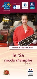 Le rSa, mode d'emploi - Conseil général du Morbihan