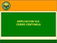 AMPLIACION VIA CERRO CENTINELA - Municipalidad de La Molina