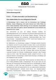 Unternehmensporträt E.G.O. – 75 Jahre Innovation ... - Oberderdingen