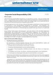 CSR - Unternehmer NRW