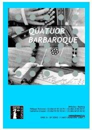 dossier Quatuor BARBAROQUE - Opus 31