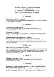 Termine Dezember - Oberberg-Aktuell