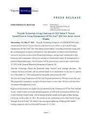 Wayside Technology Group Chairman & CEO Simon F. Nynens ...