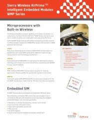 Microprocessors with Built-in Wireless Embedded SIM Sierra ...