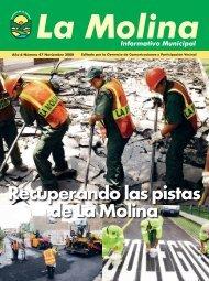 Recuperando las pistas de La Molina - Municipalidad de La Molina