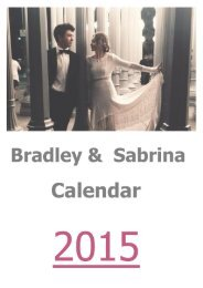Bradley & Sabrina Calendar 2015