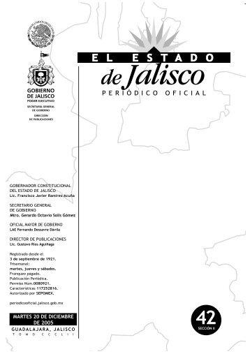 San Martín Hidalgo - Periódico Oficial El Estado de Jalisco