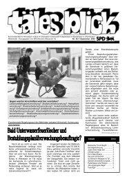 Download Täles Blick Ausgabe 26 - SPD Weissacher Tal