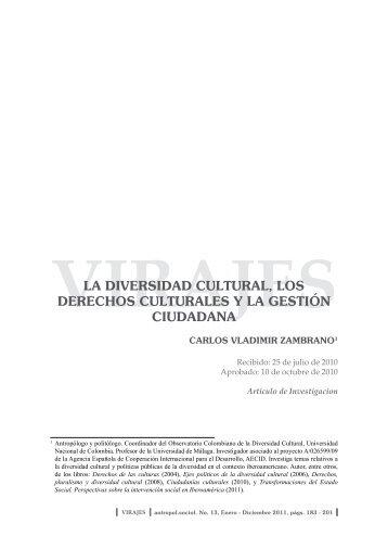 la diversidad cultural, los derechos culturales y la gestión ciudadana