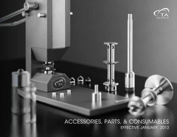 AccessorIes, PArTs, & consumAbLes - TA Instruments