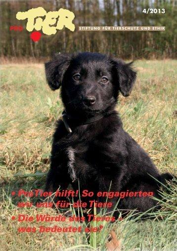 Heft 4 / 2013 - Tierschutz: Pro Tier