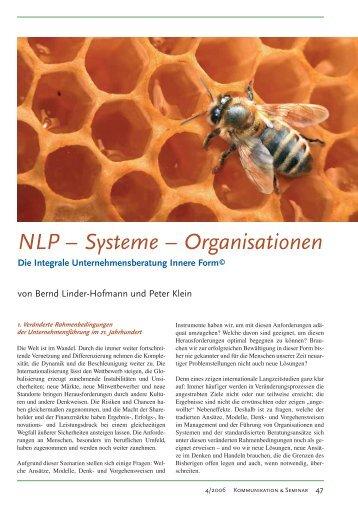 NLP – Systeme – Organisationen - Institut Innere Form
