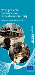 Nové pravidlá pre európske zamestnanecké rady - Prehľad ... - Europa