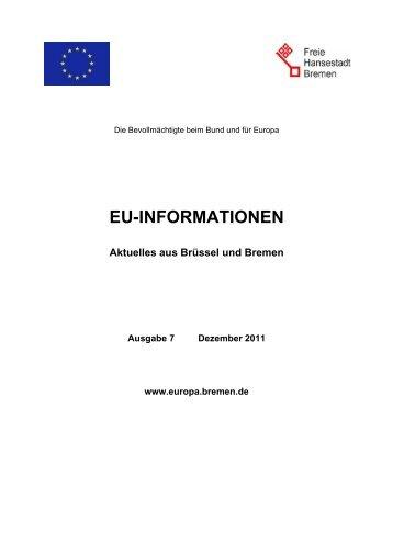 EU-Informationen Ausgabe 7/2011 - Europa in Bremen