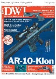 Peter Hofer Jagdwaffen - Zeitungsartikel DWJ 3/2006