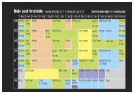 MAIN AND LEARNER SWIMMING POOL TIMETABLE APRIL 2013