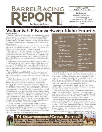 6/11 - Barrel Racing Report