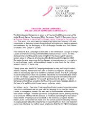 the estee lauder companies breast cancer awareness campaign