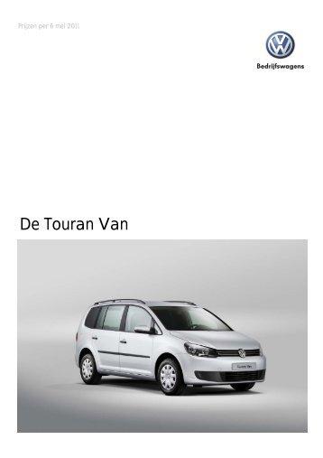 Prijslijst VW Bedrijfswagens Touran Van per 06-05-2011 ... - Fleetwise