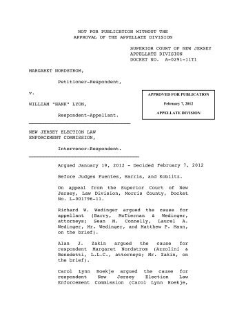 Nordstrom v. Lyon - Appellate Law NJ Blog