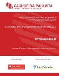 R$220.000.000,00 - Banco Votorantim