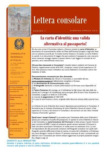 N° 5 aprile 2010 - Consolato Generale d'Italia