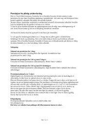 Søknad om permisjon fra pliktig undervisning - Nord-Odal Kommune