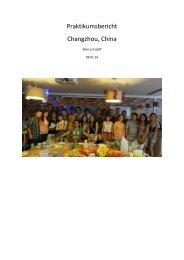 Praktikumsbericht Changzhou, China - IAESTE Switzerland